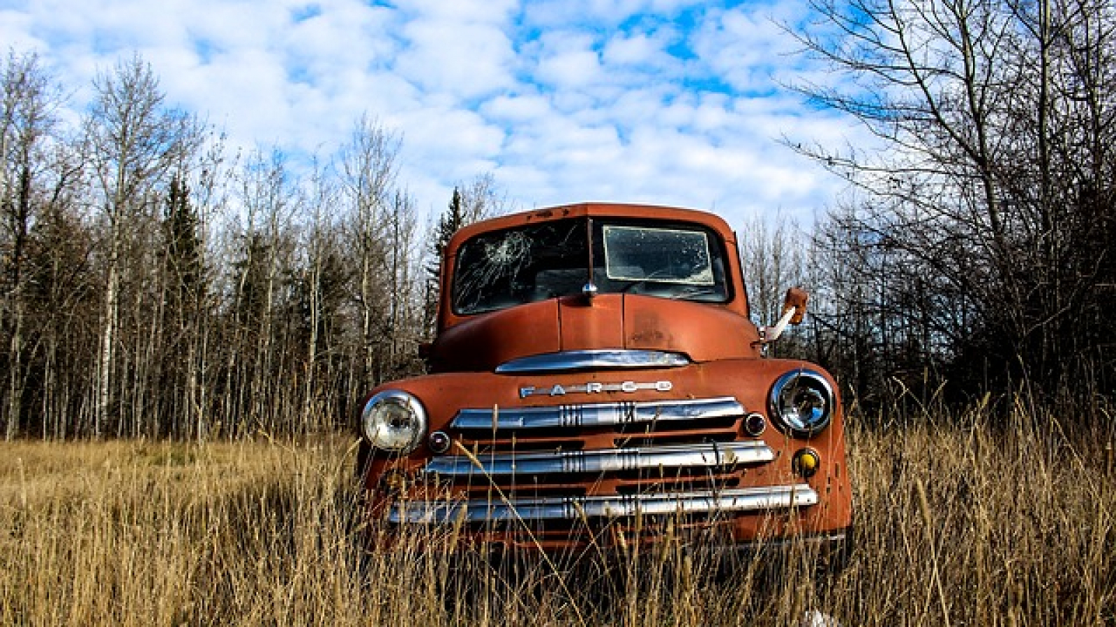 Rusted vintage truck